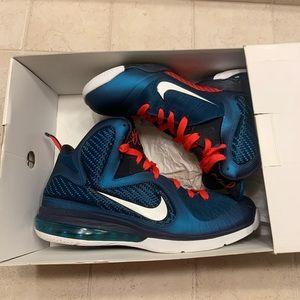 Lebron 9 Blue Red Nike